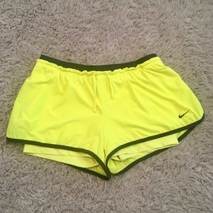 Neon Nike Dri-Fit Shorts
